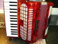 CHANSON 48 BASS ACCORDION LIGHT WEIGHT MODEL IN VERY GOOD CONDITION