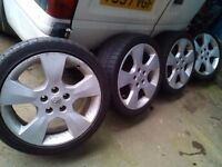 "VAUXHALL ASTRA COUPE 17"" ALLOYS 5 X 110 VECTRA ZAFIRA ASTRAVAN SIGNUM SAAB OMEGA BARGAIN £100"