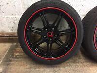 Honda Civic EP3 Type R Wheels Black