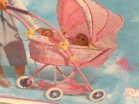 BABY ANNABELL DOLLS PRAM STILL WITH BOX IMMACULATE