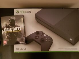 Xbox One S Storm Grey Limited Edition New with COD IW