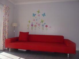 Arflex Moods 290cm designer sofa in red
