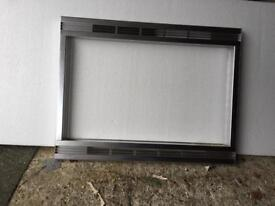Microwave built in frame and base
