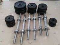 47kg York standard dumbbell set