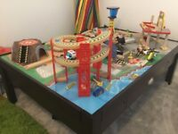 Kidkraft Wooden Airport with Train Set and Table