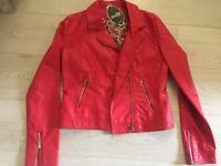 New Stella red biker jacket