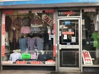 Shop fittings and Men's clothing for Sale as shop closing down