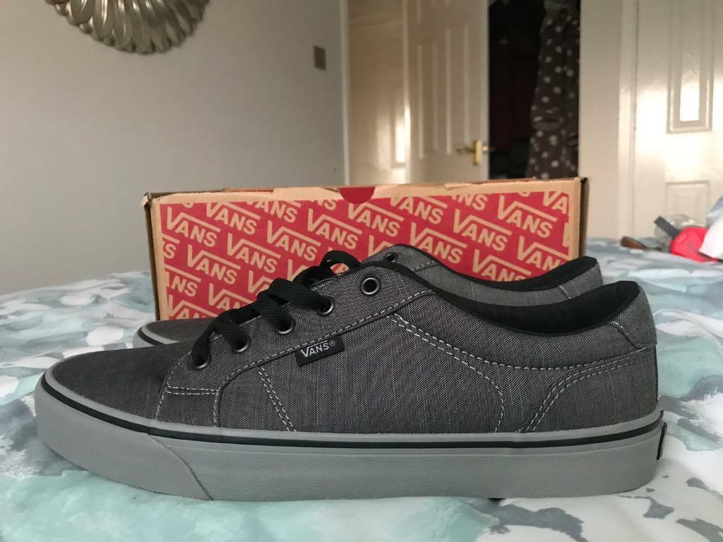 Sortendesign detaillierte Bilder sehr schön Mens Vans Bishop Textile Trainers Shoes Grey/Black Size 10.5 *Brand New*    in Binley, West Midlands   Gumtree