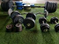 WEIGHTS BUNDLE WITH 2 BENCHES