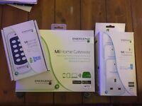 Energenie MiHome hub, 3 smart plugs and remote