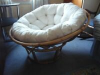 Papasan chair with cushion. Excellent condition