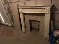 Fire surround and marble floor