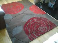 Beautiful next large rug in textured reds and browns 100% wool