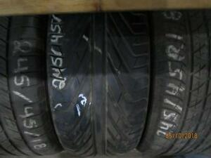 245/45R18 SINGLE ONLY USED MICHELIN A/S TIRE