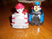 Paw patrol cars with fixed dogs chase and Marshall