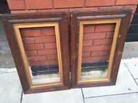 Pair of antique solid wood picture frames excellent central London bargain