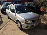 2001 1.0 Nissan micra petrol 3 doors for SALE 88282 miles