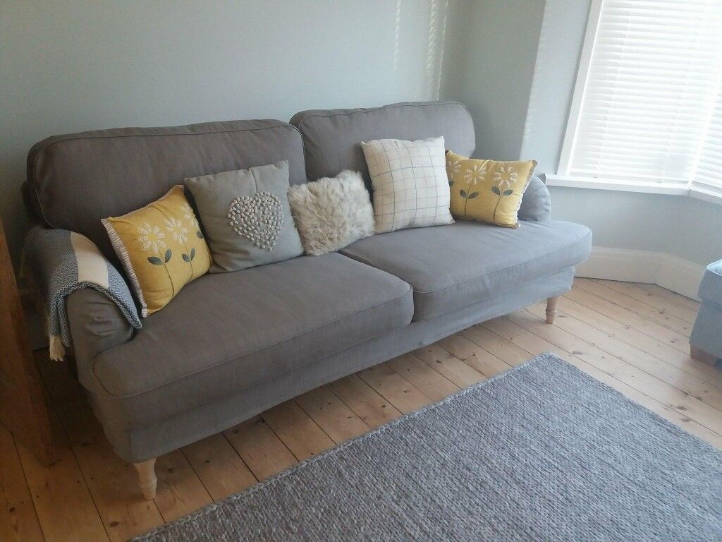 Ikea 3 Seater Stocksund Sofa Grey Beige Bought 2017 Never Used Selling Due To Move In Llandudno Junction Conwy Gumtree
