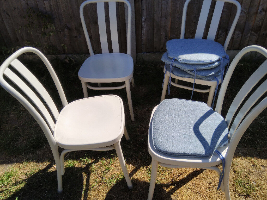 4 outdoor indoor dining chairs with cushions free delivery available
