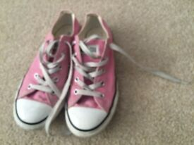 Pink converse pumps size 2 uk