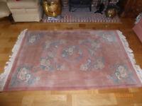 Kayam Rug 100% wool 1.83m x 1.22m Peach background,
