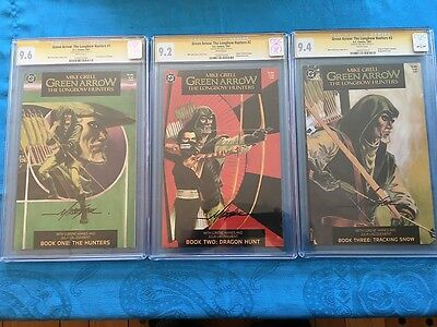 Green Arrow Longbow Hunters #1-3 - DC - CGC SS 9.6 9.2 9.4 -Signed by Mike Grell