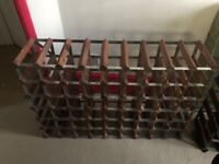 Two 63 Bottle traditional wooden wine racks (dark wood) - good condition