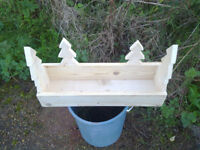 Decorative Wood Planter / Herb holder