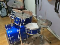 Pearl Export Exx kit with sabian Quiet Tone cymbal upgrade