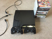 Sony PlayStation 3 Slim 120GB Charcoal Black Console (CECH-2003A) + 15 games