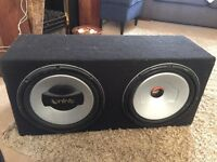 """Infinity twin subwoofer -x2 12"""" subs"""