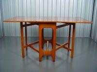 Vintage Teak Dropleaf Table Retro Mid Century Furniture