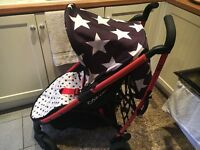 Cossato Boys Stoller, Stars pushchair liner REDUCED TO£40