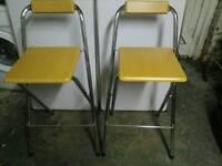 4 folding bar stools