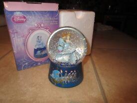 disney cinderella musical snow globe