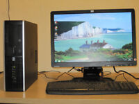HP Tower full setup, Intel Dual Processor 2.80GHz x 2 cores, Win 7, 19 inch LCD, can deliver