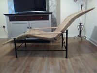 WROUGHT IRON CHAIR/RECLINER/LOUNGER