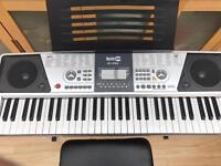 Electric keyboard and stool