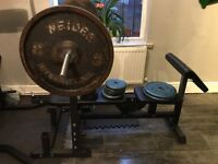 TnP bench with weight 94KG and 10KG Olympic bar
