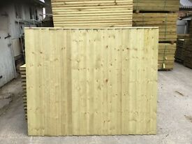 🌳Wooden High Quality Pressure Treated Fence Panels = Straight Top