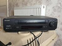 Sharp VCR without remote