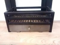 Brushed Steel/Cast Iron fireplace grate