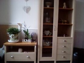 Matching wall and tv unit