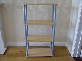 Light wood wooden plastic storage stand display unit / Used