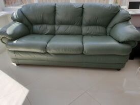 Grade A - 3 Seater Leather Sofa