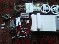 Wii fit console board and lots of accesories