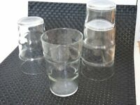 4 drinking glasses stakable