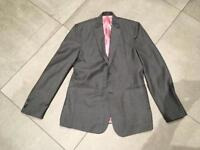 Grey slim fit jacket and waistcoat