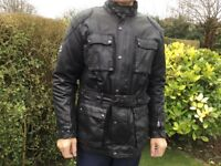 Oxford Products Men's Waxed Cotton Motorcycle Jacket 2XL