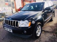 JEEP GRAND CHEROKEE AUTOMATIC 3.0 DIESEL CRD LIMITED BLACK SATNAV LEATHER PARKING SENSORS